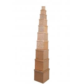 Набір кубічних коробок 601 з 10 шт Крафт