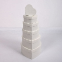 """Set of boxes """"Heart"""" 6006-02 with 6 pcs White"""