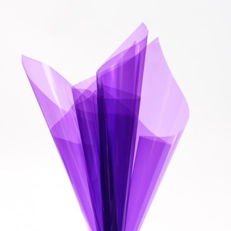 Transparent film in sheets 60x60cm P.XHXL-232 Purple