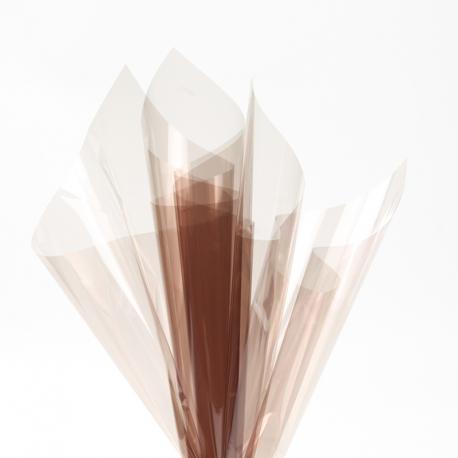 Transparent film in sheets 60x60cm P.XHXL-152 Coffee
