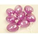 Pendants-eggs 8 pcs purple