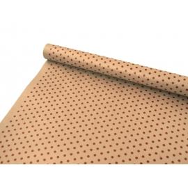 """Kraft paper 0.7x8m """"Peas"""" bordeaux"""