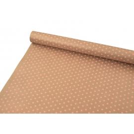 "Kraft paper 0.7x8m ""Peas"" pink"