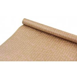 "Kraft paper 0.7x8m ""Letter"" pink"