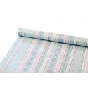 Папір 0.7м*10ярдів Срібний орнамент на блакитному