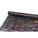 0.7 x 10yard coated paper Harmonie on black