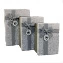 Набор коробок для подарков с 3 шт G01-54