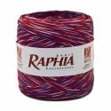 Рафия Италия 200 м Бордо + Розовый + Фиолет