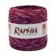 Raffia Italy 200m Raspberry + Salad + Black