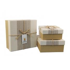 Набір коробок для подарунків з 3 шт JKZ-30