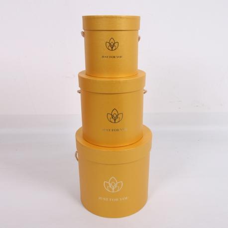"Набор коробок для цветов ""Лотос"" 2251-SD303 Желтые"