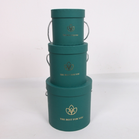 """Набір коробок для квітів """"Лотос"""" 2251-SD305 Зелені"""