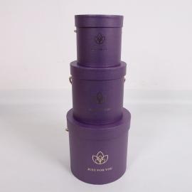 """Набір коробок для квітів """"Лотос"""" 2251-SD306 Фіолетові"""