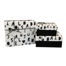Набір коробок для подарунків з 3 шт 107-5 Алфавіт