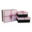 Набор коробок для подарков с 3 шт 107-44