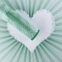 """Пленка матовая """"Полосатое Сердце"""" 60 × 60 см 091 Emerald"""