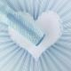 """Пленка матовая """"Полосатое Сердце"""" 60 × 60 см 104 Blue"""