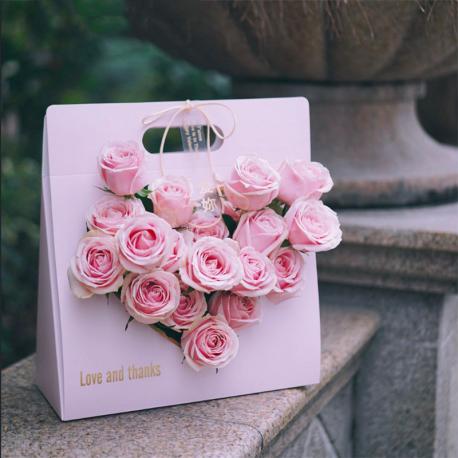 Пакет бумажный для цветов AXSTH Розовый