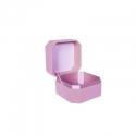 Коробка для украшений бархатная WFL037CMR Розовая
