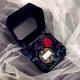 Коробка для украшений бархатная WFL037CMR Черная