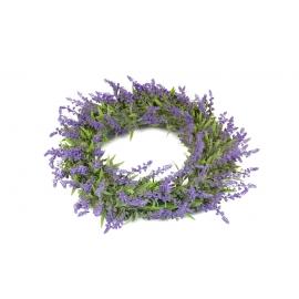 Wreath of artificial lavender plants