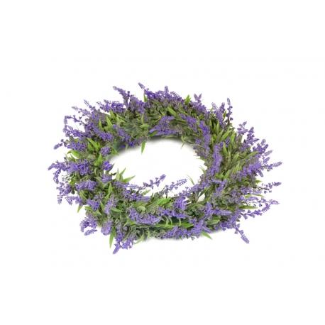 Вінок зі штучних рослин лаванди