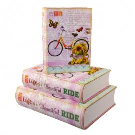 """Набір коробок для подарунків з 3 шт. Книжка """"Велосипед"""" 3013-SY336"""