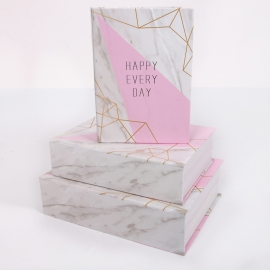 "Набор коробок для подарков с 3 шт. Книга ""Мрамор"" 8029-SY309"
