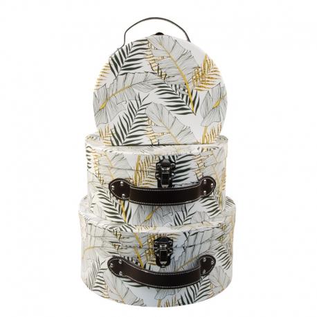 """Набір коробок """"Чорно-білі тропіки"""" з 3 шт 3007-1722"""