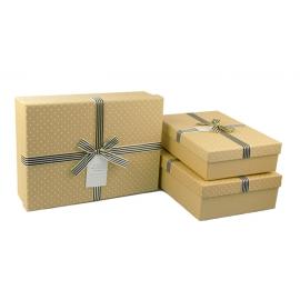 Набор коробок для подарков с 3 шт 08195-18