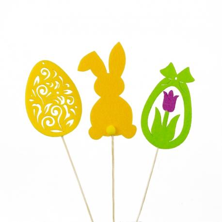 Easter decor on a stick, felt