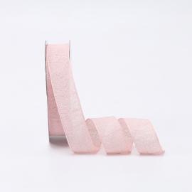 Стрічка джутова 2.6cм x 18ярд P.XQX-165 Light Pink