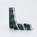Лента текстильная в клеточку 2.6cм x 18ярд R.BGL-091 Emerald