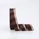 Стрічка текстильна в клітинку 2.6cм x 18ярд R.BGL-152 Coffee