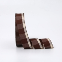 Textile tape in a cell 2.6cm x 18yards R.BGL-152 Coffee