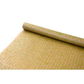 "Kraft paper 0,7х8m ""Leaf"" lime"