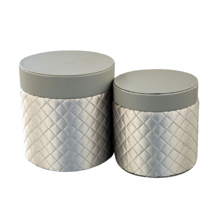 Set of round boxes for flowers 2 pieces 119-3006 Gray