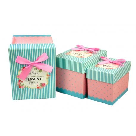 Набір коробок для подарунків з 3 шт 102-10