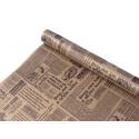 """Бумага Крафт 0,7 х 8м """"Газета NEW"""" черным"""