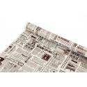 """Папір-Крафт двосторонній 0,7 х 8м """"Times"""" на білому"""