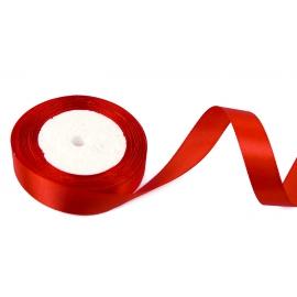 Cтрічка сатинова 2cм х 25ярд Червона 26