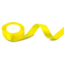Стрічка сатинова 2,5cм*25ярд Жовта 101