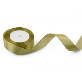Стрічка сатинова 2,5cм*25ярд Вінтаж-оливка 100/185