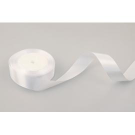 Satin ribbon 2,5cm * 25yard White 01