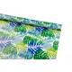 Папір крейдований 0.7м х 10ярд «Синє та зелене тропічне листя»