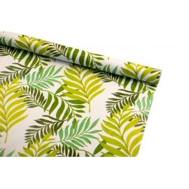 Бумага мелованная 0,7 х 10 ярд «Зеленые тропические листья»