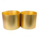 Набір металізованих тубусів для квітів з 2 шт золоті W5606