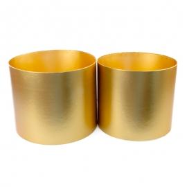Набор металлизированных тубусов для цветов с 2 шт золотые W5606