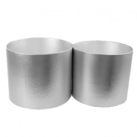 Набор металлизированных тубусов для цветов с 2 шт серебряные W5607