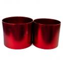 Набір металізованих тубусів для квітів з 2 шт червоні W5608